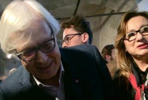 Vittorio Sgarbi ha inaugurato la mostra di Federigo Sclopis al Filatoio di Caraglio