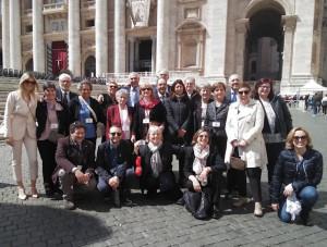 Una delegazione cuneese dell'Aido ricevuta da Papa Francesco