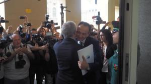 Il nuovo presidente della Regione Alberto Cirio si è insediato in piazza Castello