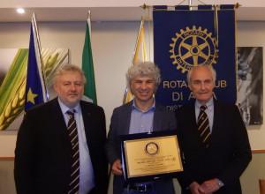 Il premio 'Rotary Alba 2019' è stato consegnato a Roberto Cavallo