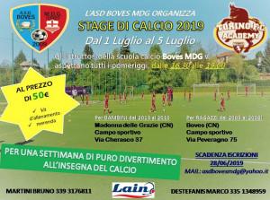 Calcio, dal primo al 5 luglio lo stage per bambini con il Boves MdG
