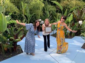 La giovane paesaggista braidese Francesca Cosmai sul gradino più alto del podio al 'Prix de la creation'
