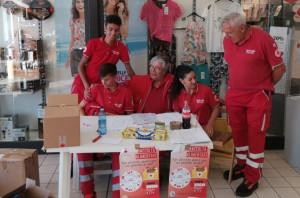 Oltre 600 chili di prodotti alimentari raccolti dalla colletta della Croce Rossa di Busca