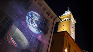 Da domani il grande spettacolo di video mapping sulla Luna sulla facciata della Fondazione CRC