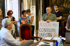 Sinistra, M5S e Lega insieme per protestare contro il parking sotterraneo in piazza Europa