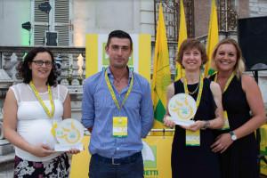 Mirella Manzone di Monforte d'Alba premiata agli Oscar Green regionali di Coldiretti