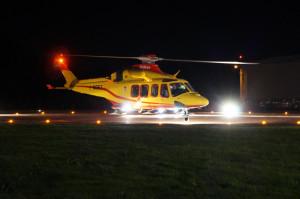 Elisoccorso 118, inaugurata la piazzola di atterraggio notturno a Limone