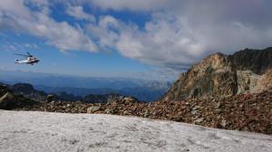 Alpinista tedesco salvato dopo una caduta di 60 metri sul Monviso
