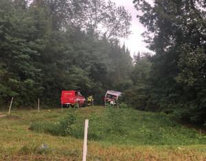 Busca, ambulanza bloccata nel fango durante un intervento