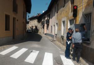 Borgo San Dalmazzo, attivato il nuovo semaforo in via Grandis
