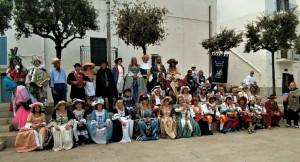 La maschera buschese 'Buscaja' ospite a Conversano in Puglia