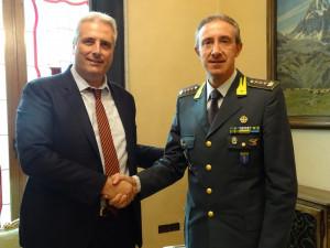 Federico Borgna ha incontrato il nuovo comandante provinciale della Guardia di Finanza