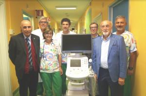 Donato alla Pediatria dell'ospedale di Savigliano un ecografo di ultima generazione