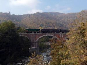 A Garessio un treno storico imperdibile tra castagne, funghi e colori d'autunno