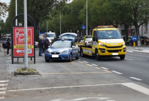 Incidente in corso IV Novembre a Cuneo, ferito un motociclista