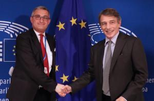 Il presidente di Confartigianato Cuneo Luca Crosetto ha incontrato il Presidente del Parlamento UE David Sassoli