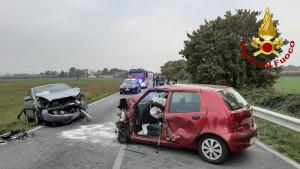 Villafalletto, frontale tra due auto: c'è un ferito grave