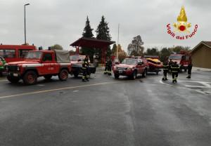 Da Cuneo una colonna mobile di Vigili del Fuoco in Liguria per l'emergenza maltempo