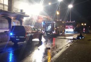 Scagnello, incendio in un garage, coinvolta anche un abitazione