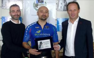 Borgo San Dalmazzo, il recordman del ciclismo su pista Dario Zampieri ricevuto in Comune