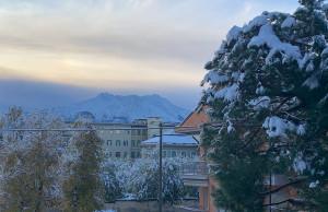 La neve imbianca la pianura e l'arco alpino: 70 centimetri alla diga di Entracque