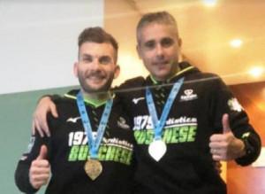 Due portacolori della Podistica Buschese in gara alla maratona di Valencia
