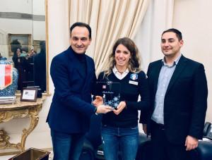 Marta Bassino ricevuta in Regione dopo la prima vittoria in Coppa del Mondo