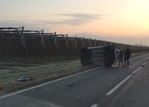 Scontro tra furgone e auto, rallentamenti tra Saluzzo e Savigliano