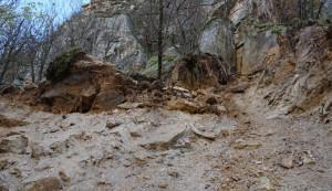 Crolli dalle Rocche delle Vallette ad Ormea, l'Arpa ha provveduto al disgaggio delle porzioni rocciose rimaste