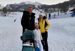Giornata sulla neve a Limone Piemonte per l'ex granata Kamil Glik