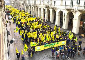 Coldiretti: la carica dei 4 mila da Cuneo a Torino, l'agricoltura chiede un'altra velocità e la Regione dà le prime risposte