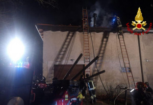 A fuoco un tetto a San Benedetto Belbo