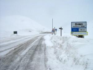 Chiuso per neve il colle della Maddalena