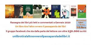 'Un libro tira l'altro': i libri più letti e commentati del mese di gennaio