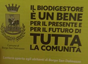 Borgo San Dalmazzo, il Sindaco scrive ai cittadini: 'Il biodigestore una scelta giusta'