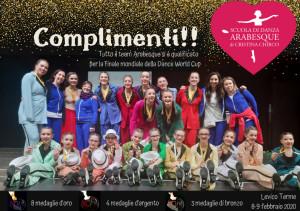 La scuola di danza Arabesque si qualifica per la fase mondiale della Dance World Cup