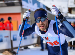 Sci nordico, Lorenzo Romano con la nazionale Under 23 a Passo Lavazè