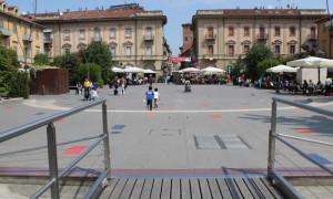 Alba, lavori in piazza Ferrero: i commercianti soddisfatti per il cronoprogramma