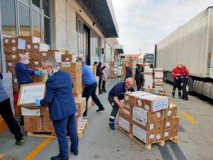 Solidarietà, in Piemonte quattro tir carichi di materiale sanitario dalla Cina