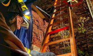 Incendio in una cascina a Paesana, intervengono i Vigili del Fuoco