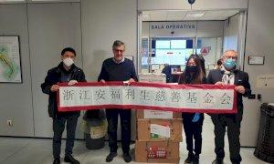 La comunità cinese dona al Piemonte dieci nuovi ventilatori polmonari