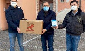 Dalla 'Capello' di Cuneo 200 mascherine Ffp2 per il Comune di Busca