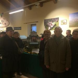 Il gruppo della Palestra di vita territoriale di Cuneo in visita a Valgrana
