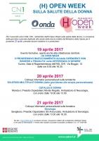 Open Week sulla salute della donna