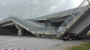 Crolla il ponte della tangenziale di Fossano
