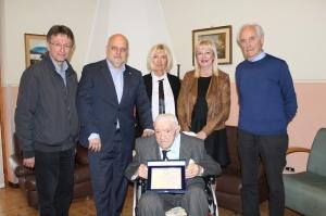 Alba: il Sindaco Maurizio Marello ed il Presidente dell'A.n.p.i. Enzo Demaria hanno incontrato il partigiano Angelo Racca