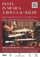 Doppio concerto al Castello di Rocca de' Baldi