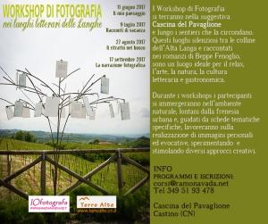 Workshop di fotografia nei luoghi letterari delle Langhe cuneesi