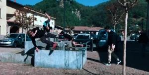 I giovani di Roccaforte Mondovì scoprono il Parkour