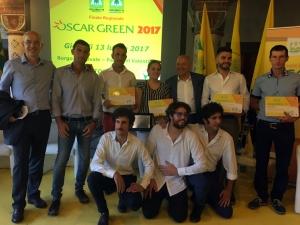Tre giovani imprenditori cuneesi premiati all'Oscar Green Piemonte